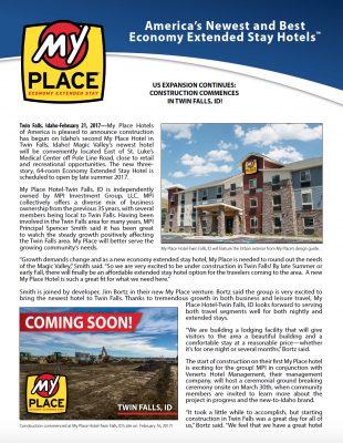 Construction Commences in Twin Falls, ID!