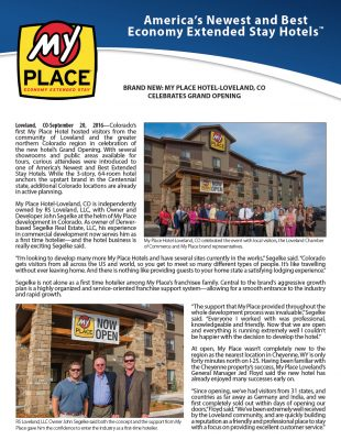My Place Hotel-Loveland, CO Celebrates Grand Opening!