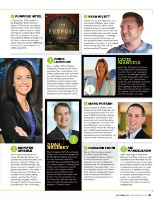 Lodging Magazine - Ryan Rivett named in 2016 list of Innovators