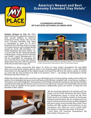 My Place Hotel-Ketchikan, AK COMING SOON!