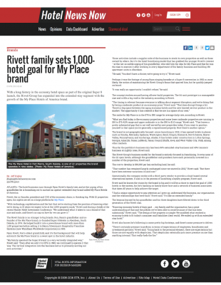 Hotel News Now - Rivett Family