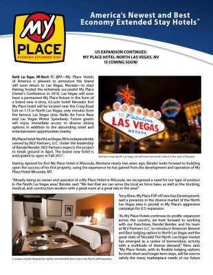 My Place Hotel - North Las Vegas, NV Coming Soon!