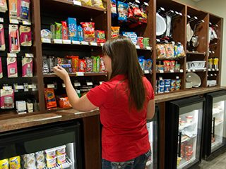 Guest enjoying My Store pantry options