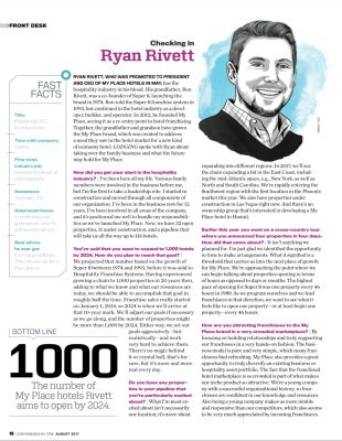 Lodging Magazine Checks in with Ryan Rivett