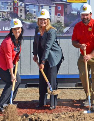 MY PLACE HOTEL-MERIDIAN, ID BREAKS GROUND